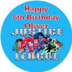 Personalised Edible Justice League Superheros Cake Topper
